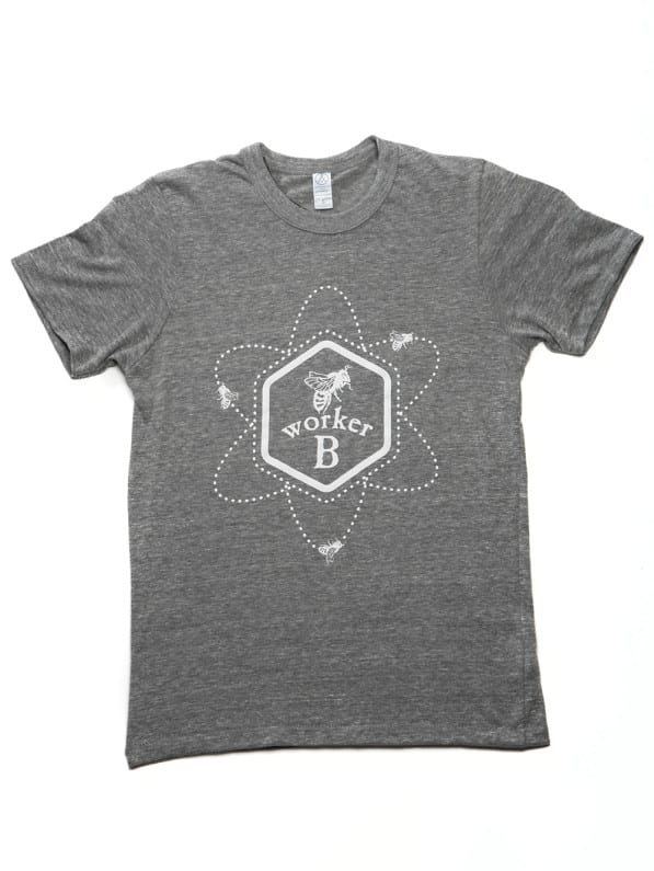 Atomic Bee SHirt Grey Front