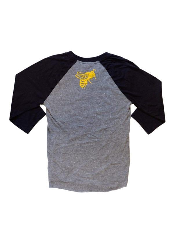Local Honey Shirt Baseball Black Back