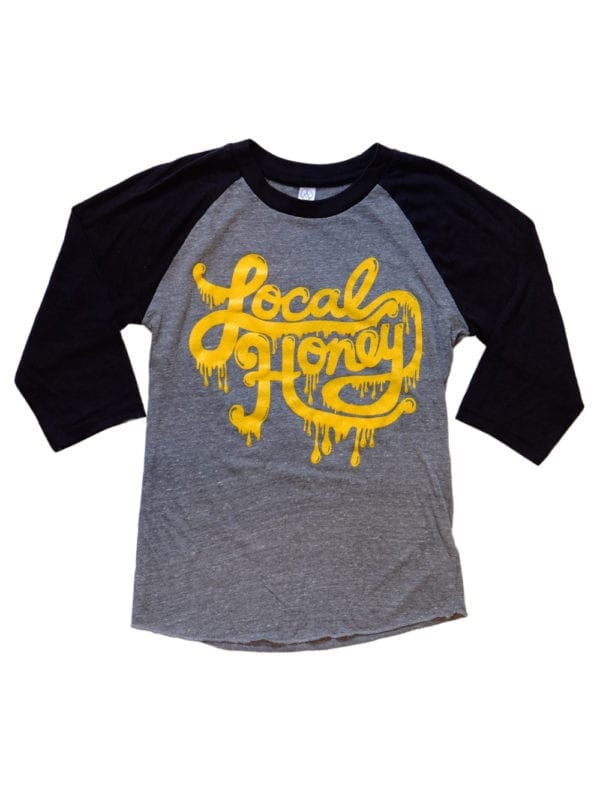Local Honey Shirt Baseball Black Front