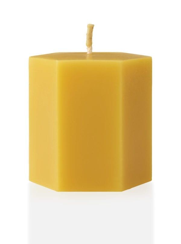 worker-b-beeswax-pillar-candle-short