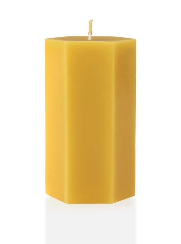 worker-b-beeswax-pillar-candle-tall