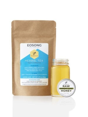 Eosong Herbal Tea and Basswood/Clover Raw Honey Bundle by Worker B