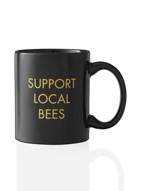 worker-b-mug-black-support-local-bees-front