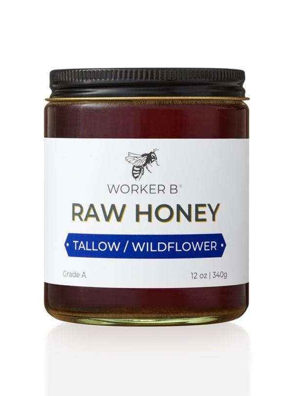 worker-b-raw-honey-12oz-tallow-wildflower-louisiana