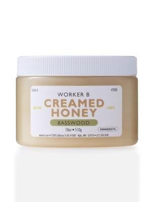 Creamed Basswood Honey by Worker B