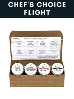 Chef's Choice Raw Honey Flight Box by Worker B