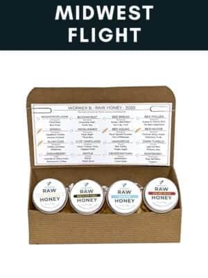 Midwest Raw Honey Flight Box by Worker B