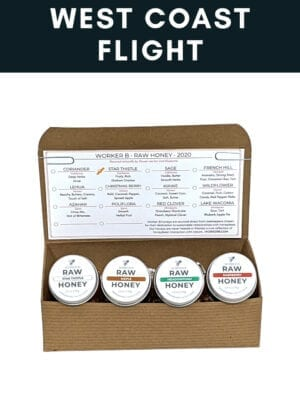 West Coast Raw Honey Flight Box by Worker B