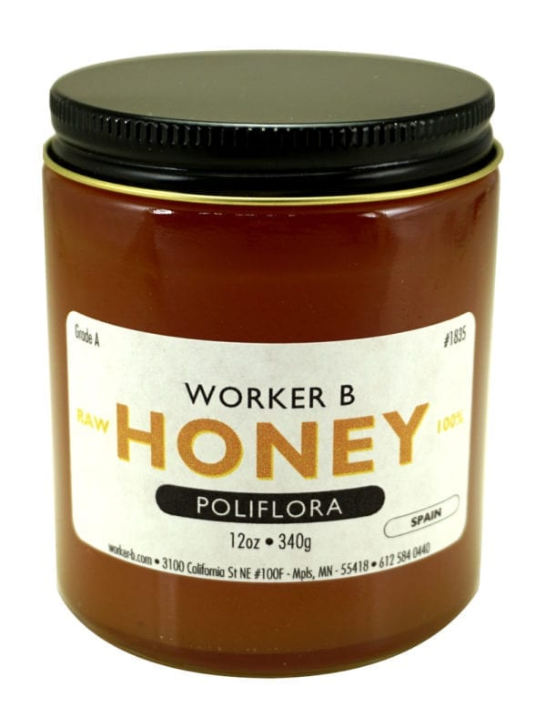 Worker B Raw Honey Poliflora (Multiflower)