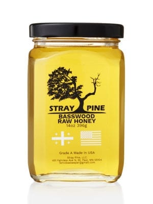 Stray Pine Basswood Raw Honey presented by Worker B