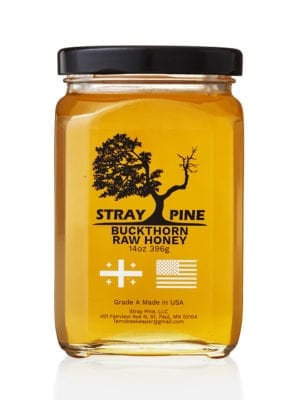 Stray Pine Buckthorn Raw Honey presented by Worker B