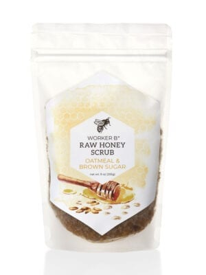 Oatmeal and Brown Sugar Raw Honey Sugar Scrub by Worker B